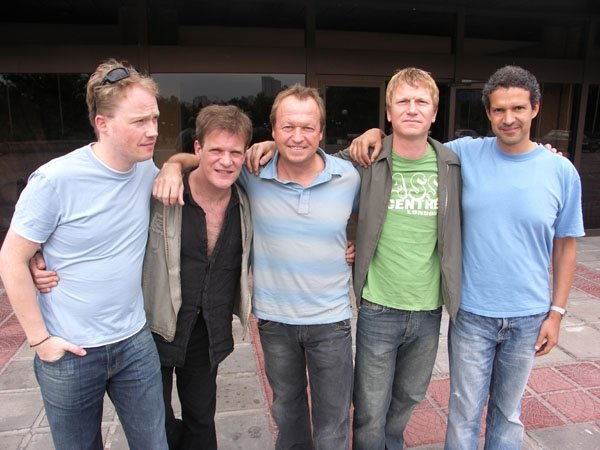 Level 42 in Sofia, 2007. From the left: Sean Freeman, Gary Husband, Mark King, Nathan King, Mike Lindup. Photo by Imanuel Marcus.